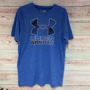 Under Armour Loose Fit Blue T-Shirt / YXL